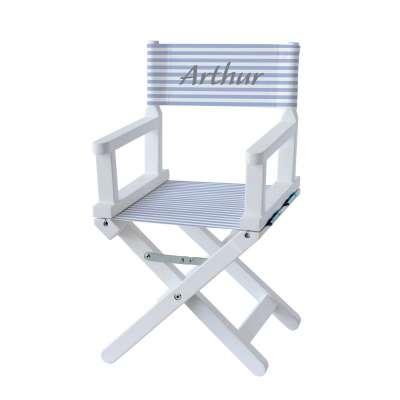 Chaise metteur en scène - Rayures bleues ciel et blanches
