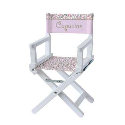 Chaise metteur en scène - Fleurs des champs roses