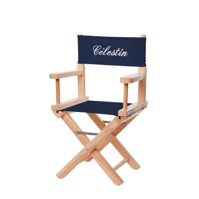 Jeu de toiles pour chaise de metteur en scène - Toile unie bleue marine