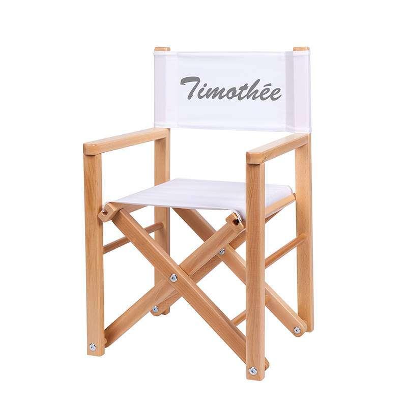 Fauteuil réalisateur - Toile unie blanche