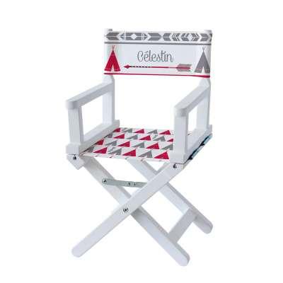 Chaise metteur en scène - Tipi rouge et gris