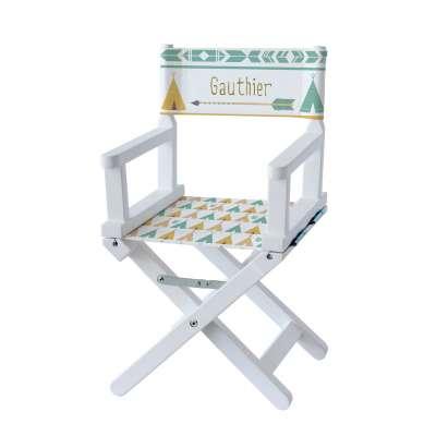 Chaise metteur en scène - Tipis verts et jaunes