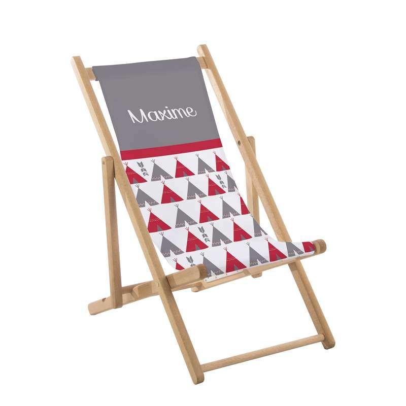 transat enfant tipis rouge et gris ma petite chaise. Black Bedroom Furniture Sets. Home Design Ideas