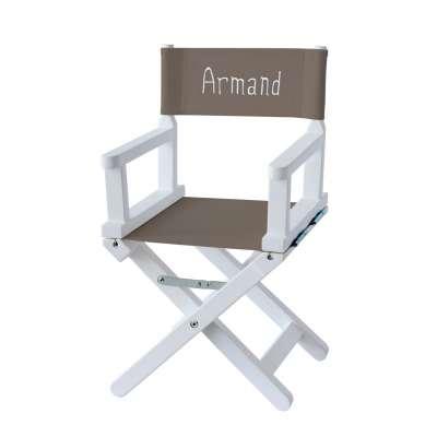 Chaise metteur en scène - Toile unie taupe