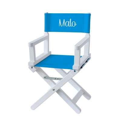 Chaise metteur en scène - Toile unie bleu azur