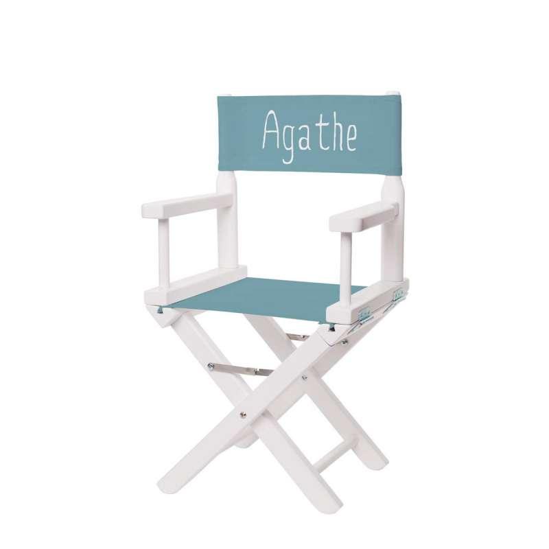 Jeu de toile pour chaise de metteur en scène - Toile unie bleu mineral