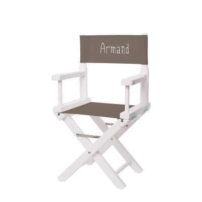 Jeu de toiles pour chaise de metteur en scène enfant - Toile unie taupe