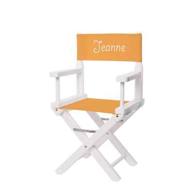 Jeu de toile pour chaise de metteur en scène enfant - Toile unie bouton d'or
