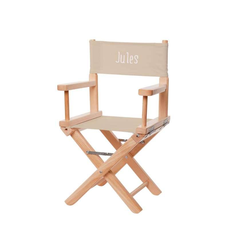 jeu de toiles chaise metteur en sc ne enfant toile unie. Black Bedroom Furniture Sets. Home Design Ideas