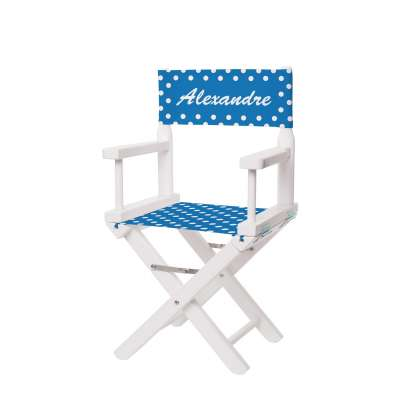 Chaise metteur en scène - Petits pois bleus