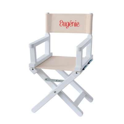 Chaise metteur en scène - Toile unie grège