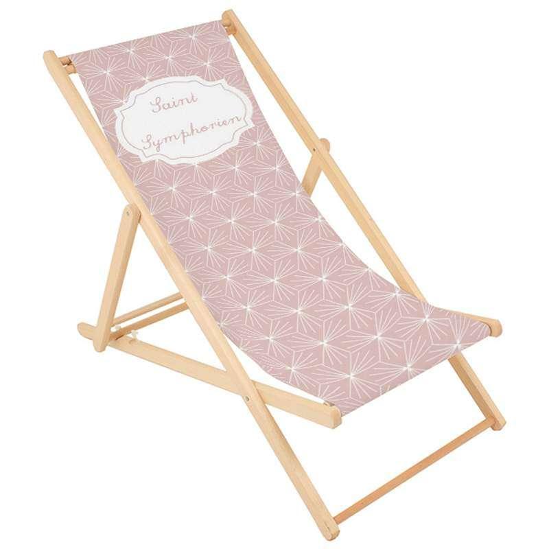 Transat adulte imprim tendance rose ma petite chaise for Transat jardin rose
