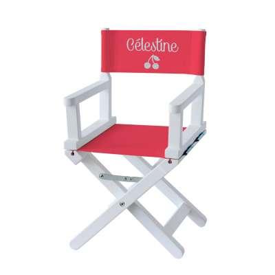Chaise metteur en scène - Cerises sur toile unie rouge
