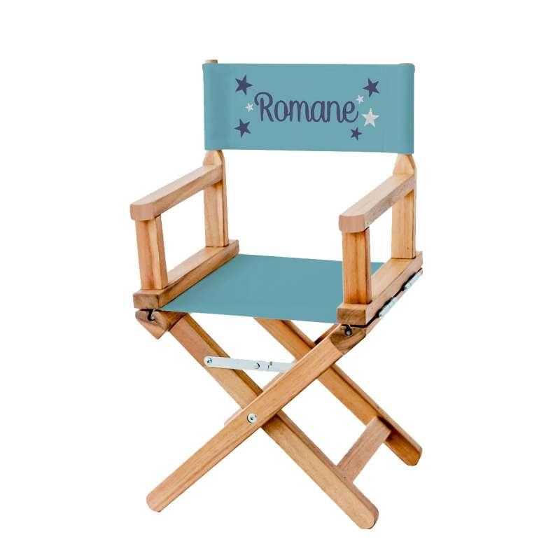 chaise metteur en sc ne toiles bleues sur toile unie. Black Bedroom Furniture Sets. Home Design Ideas