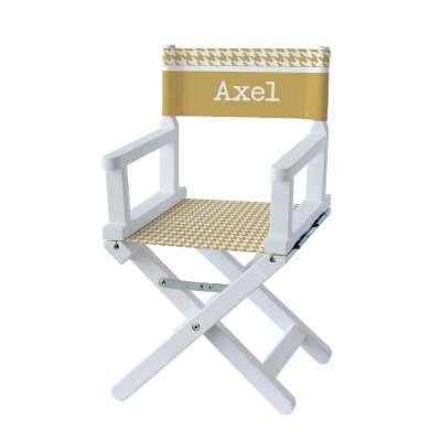 Chaise metteur en scène - Pieds de poule moutarde