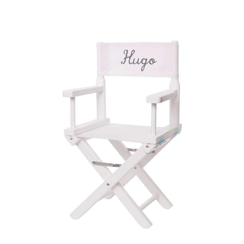 Chaise metteur en sc ne junior toile unie blanche for Chaise blanche solde