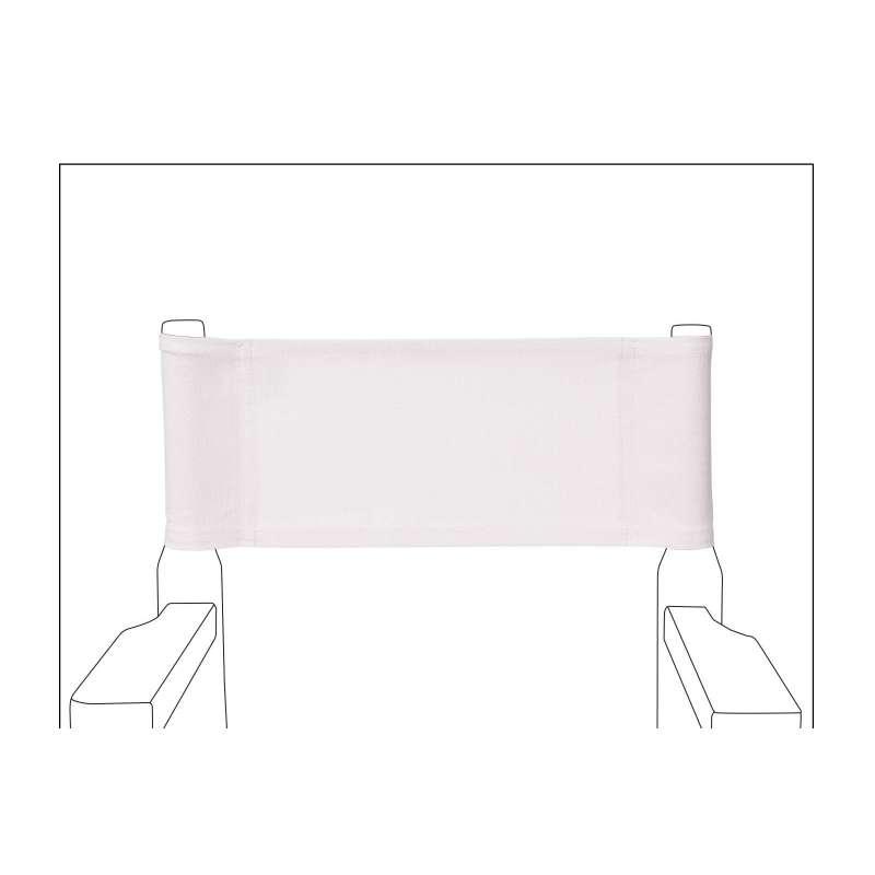 chaise metteur en sc ne junior toile unie blanche. Black Bedroom Furniture Sets. Home Design Ideas