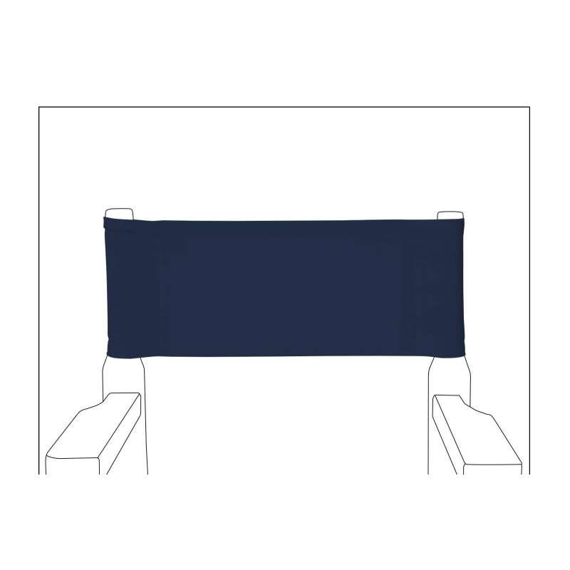chaise metteur en sc ne junior toile unie bleu marine. Black Bedroom Furniture Sets. Home Design Ideas