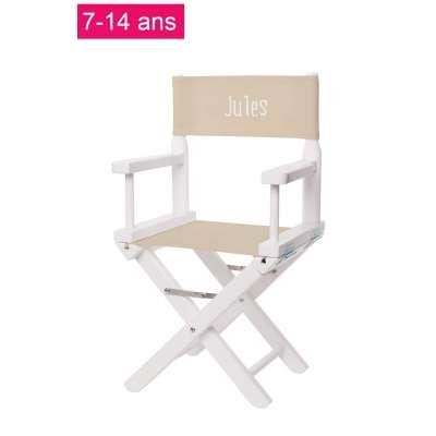 Chaise metteur en scène junior - Toile unie ficelle