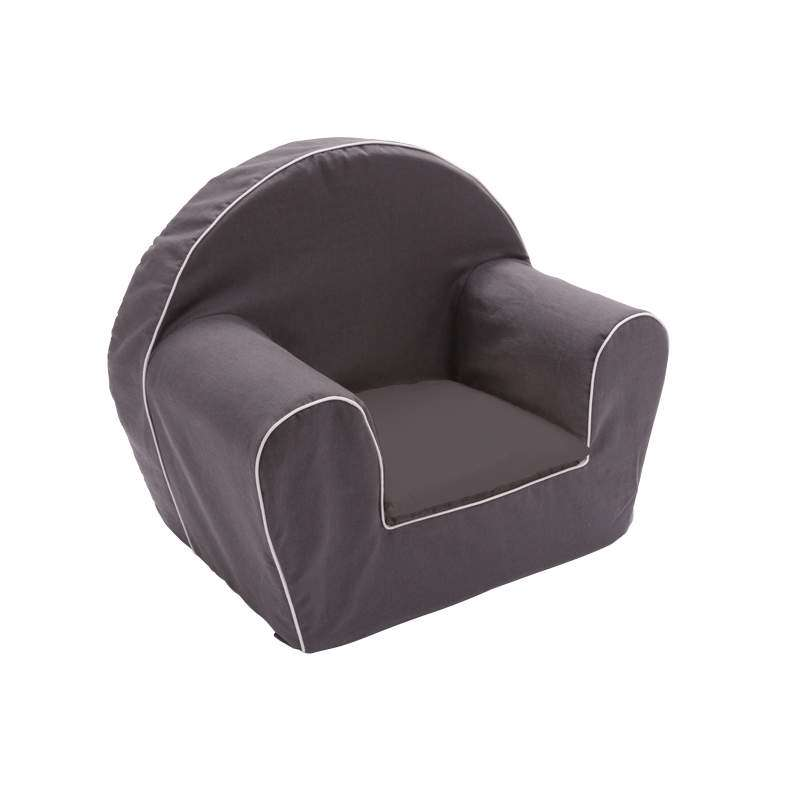 fauteuil club enfant gris anthracite ma petite chaise. Black Bedroom Furniture Sets. Home Design Ideas