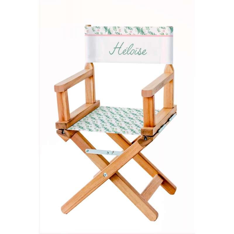 chaise metteur en sc ne imprim botanique ma petite chaise. Black Bedroom Furniture Sets. Home Design Ideas