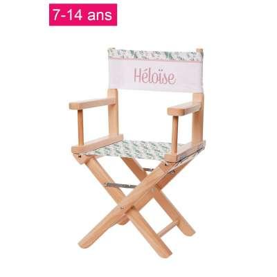 Chaise metteur en scène junior - Imprimé botanique