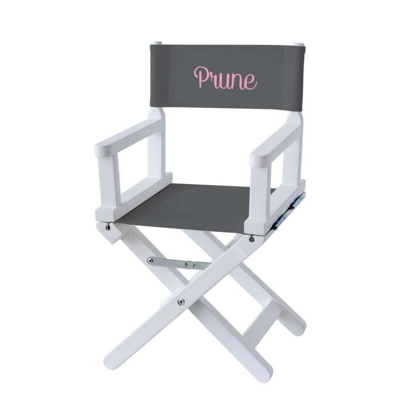 Chaise metteur en scène - Toile unie grise anthracite