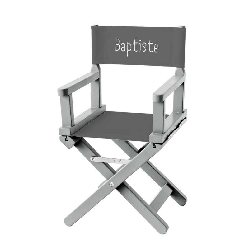 chaise metteur en sc ne toile unie grise anthracite ma petite chaise. Black Bedroom Furniture Sets. Home Design Ideas