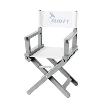 Chaise metteur en scène - Eliott, le pilote sur toile unie blanche