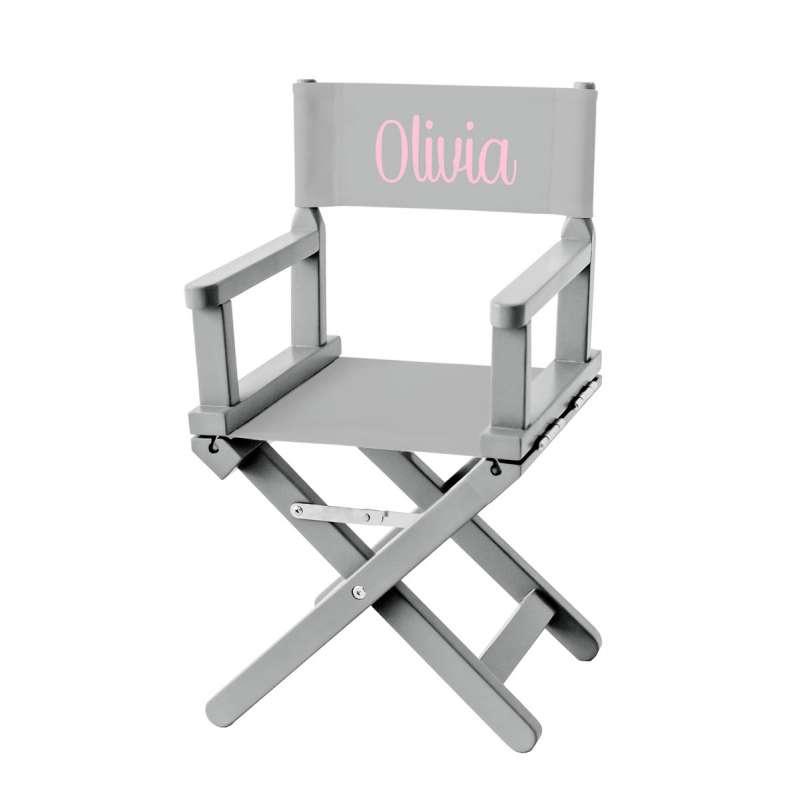 Chaise Metteur en Scène Enfant - Toile Gris clair - Ma Petite Chaise