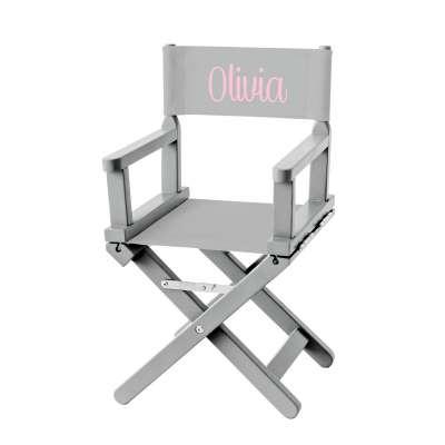 Chaise metteur en scène - Toile unie grise