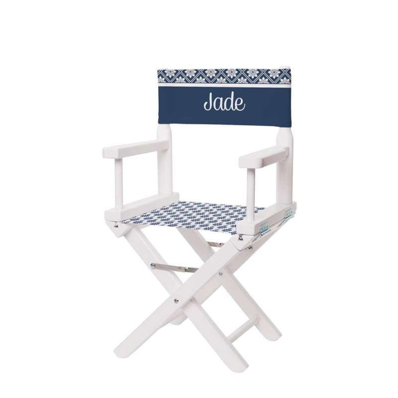 chaise metteur en sc ne motifs scandinaves bleu marine et blanc ma petite chaise. Black Bedroom Furniture Sets. Home Design Ideas