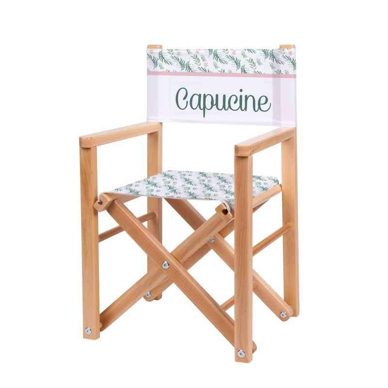 fauteuil r alisateur imprim botanique ma petite chaise. Black Bedroom Furniture Sets. Home Design Ideas