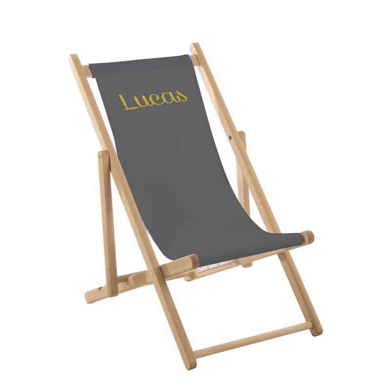 Transat enfant toile unie gris anthracite ma petite chaise for Transat gris anthracite