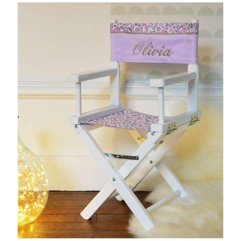 chaise metteur en sc ne fleurs des champs roses ma petite chaise. Black Bedroom Furniture Sets. Home Design Ideas