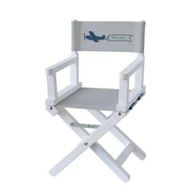 Chaise metteur en scène - Maxence l'aviateur sur toile unie grise