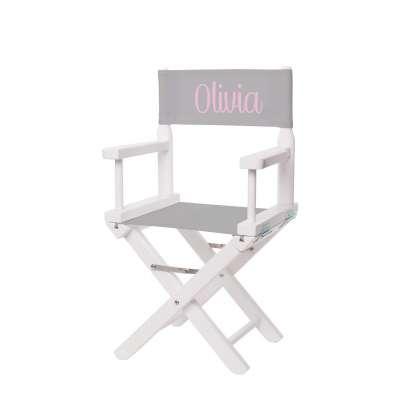 Jeu de toiles pour chaise de metteur en scène - Toile unie gris clair