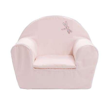 Fauteuil club enfant - Libellule rose pâle