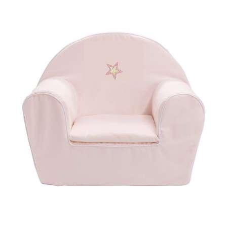 Fauteuil club enfant - Etoile rose pâle