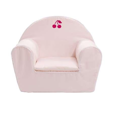 Fauteuil club enfant - Cerise rose pâle