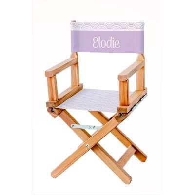 Chaise metteur en scène - Soleil levant glycine