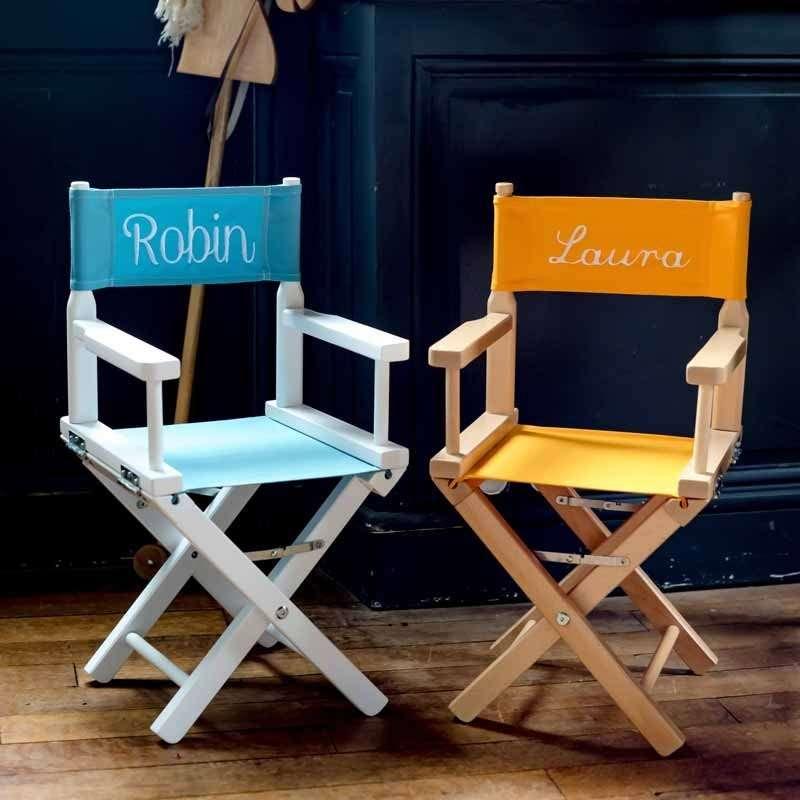 chaise de metteur en sc ne personnalis e enfant toile. Black Bedroom Furniture Sets. Home Design Ideas