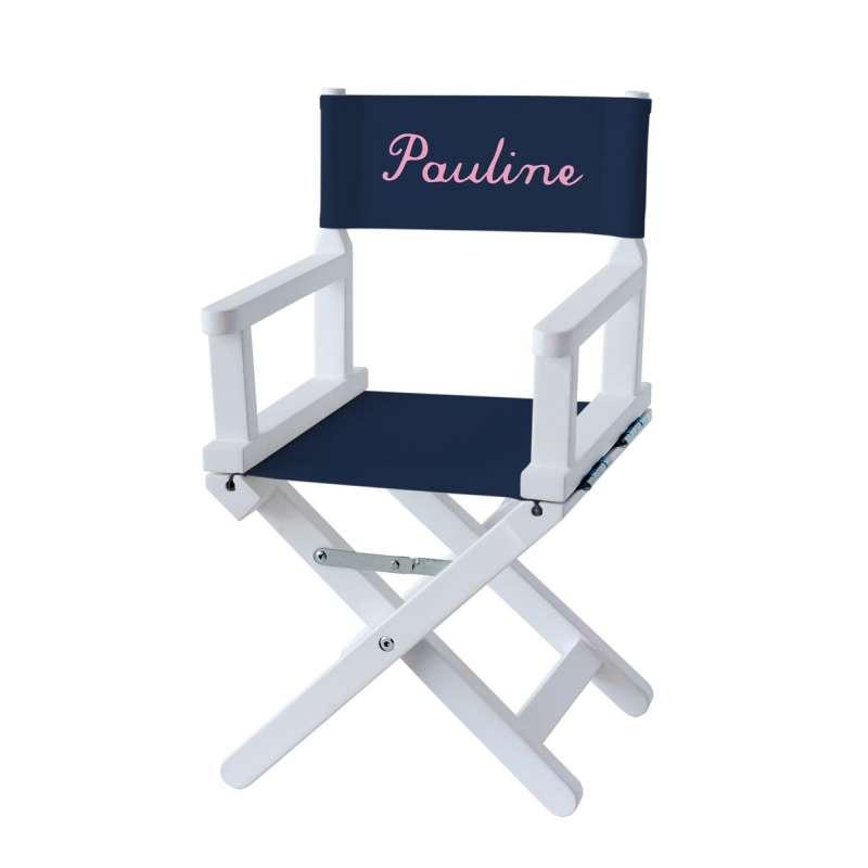 chaise metteur en sc ne enfant bleue marine ma petite chaise. Black Bedroom Furniture Sets. Home Design Ideas
