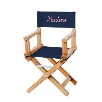 Chaise metteur en scène - Toile unie bleue marine