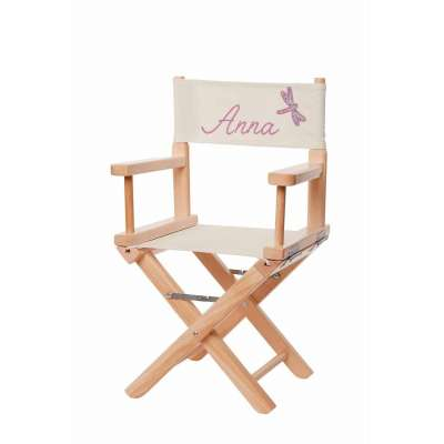 Jeu de toiles pour chaise de metteur en scène - Libellule grège