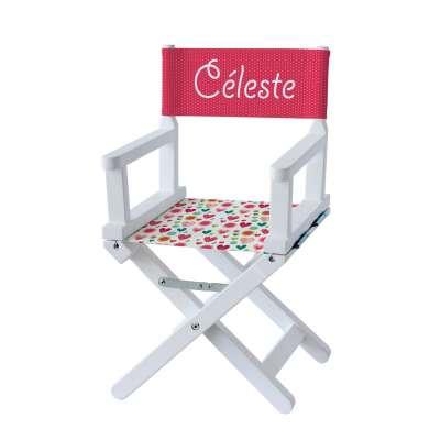 Chaise metteur en scène - Coeurs et pois roses