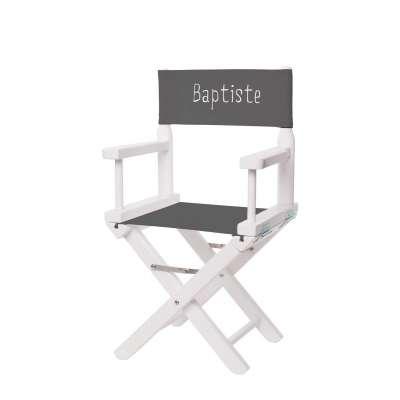 Jeu de toiles pour chaise de metteur en scène - Toile unie gris anthracite