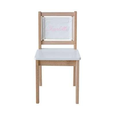 Chaise d'écolier - Toile Unie Blanche