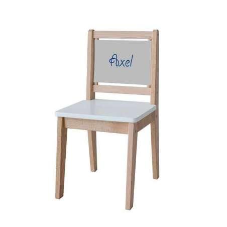 Chaise d'écolier - Toile unie gris clair