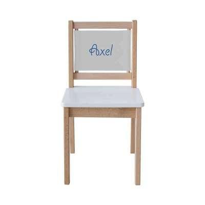 Chaise écolier - Toile unie gris clair